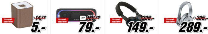 Media Markt Restposten Aktion   z.B. ULTRON Boomer Viva Bluetooth Lautsprecher für 5€