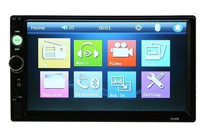 Universelles 7 Touchscreen Radio mit MP4, MP3, Bluetooth, USB Port, SD Slot inkl. Rückfahrkamera für 51,52€
