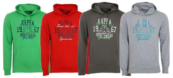Kappa Akano Herren Kapuzenpullover in 4 Farben zum Preis von je 17,99€