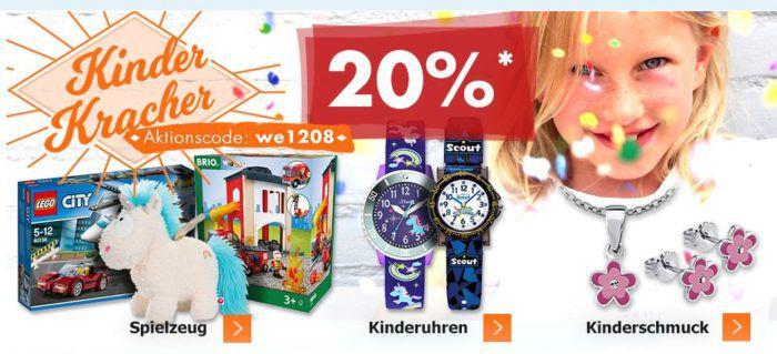 Karstadt Kracher mit z.B. 20% auf Kinderuhren  Schmuck und Spielzeug