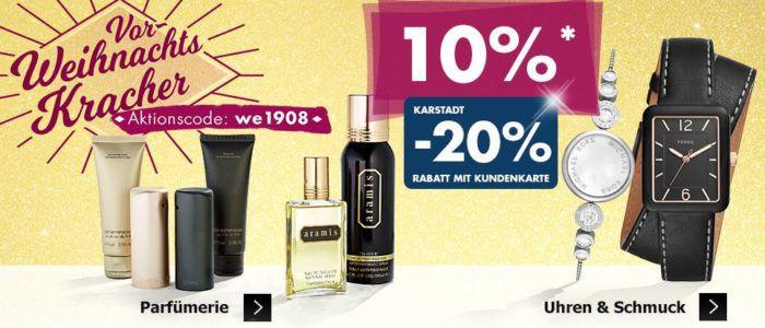 Karstadt Weekend Kracher mit günstigen Uhren, Parfüm und Sportbekleidung