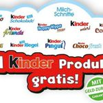 1 Ferrero Kinder Produkt gratis testen   nur am 20.09.