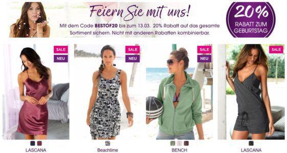 Bis Mitternacht: Lascana Sale bis zu 65% Rabatt + 20% extra Rabatt auf alles! + VSK frei ab 50€