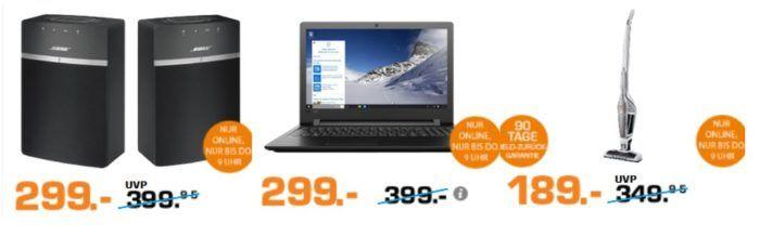 Saturn Late Night Shopping Übersicht   u.a.: Lenovo IdeaPad 110 15,6 Zoll Notebook für 229€