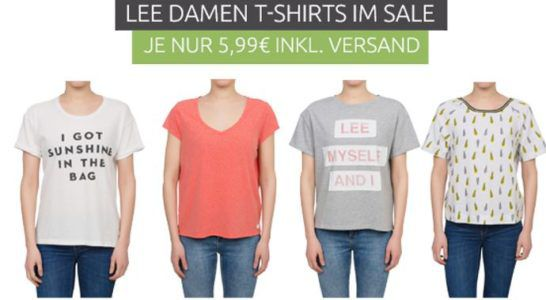 LEE Damen T Shirt Sale   57 Modelle für je 5,99€