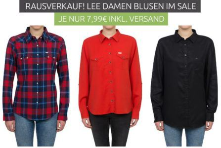 Lee Damen Blusen Sale je nur 5,99€