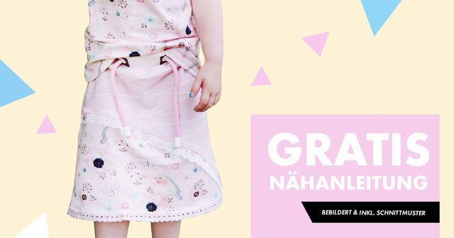 Nähanleitung und Schnittmuster für einen Mädchenrock gratis + Gutschein on top