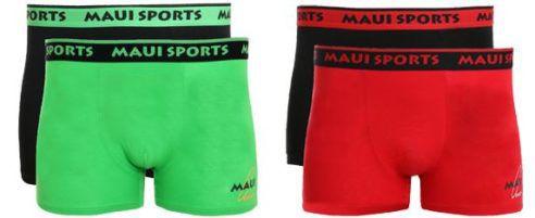 MAUI SPORTS Herren Boxershorts als 2er Pack statt 28€ für 7,99€