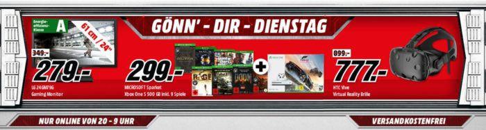 MICROSOFT Sparket: Xbox One S 500 GB inkl. 9 Spiele für 345, € uam. im Media Markt Dienstag Sale