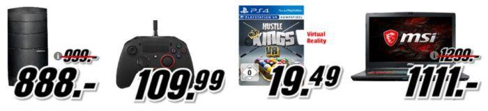 Playstation4 VR Games, Gamer Computer, Filme uam. im Media Markt Dienstag Sale