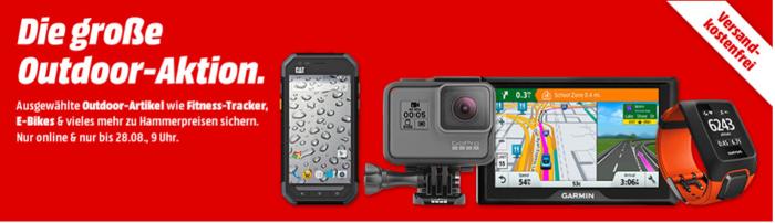 Media Markt Outdoor Aktion: günstige Action Cams, eBikes, Wearables und Outdoor Handys