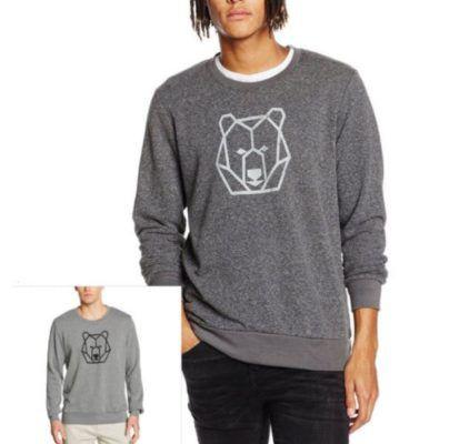 Mick Morrison Herren Sweatshirt mit geometrischen Druck für 15,95€