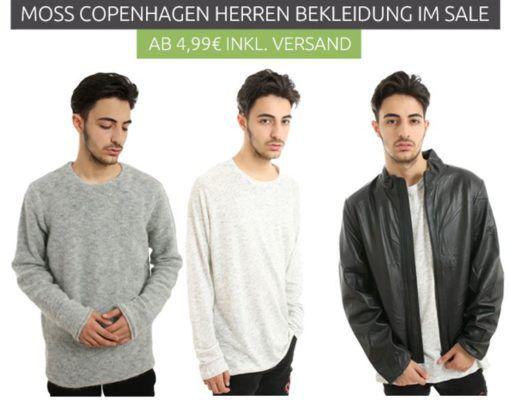 MOSS COPENHAGEN Herren Fashion Sale   Tank Tops ab 4,99€   Sweat Jacken für 14,99€