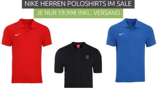 NIKE TS Core Polo Herren Polo Shirts für je 19,99€