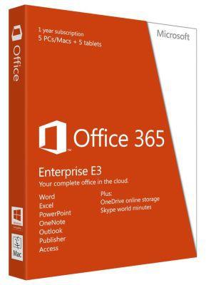 Microsoft Office 365 Enterprise E3 kostenlos für 1 Jahr (statt 199€)