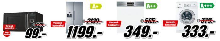 Media Markt Preishammer   günstige Haushaltsgerät   z.B. Side by Side Kombi NEFF K3990X7 statt 1.999€ für 1.199€