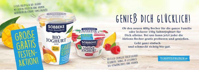 Söbbeke Bio Sahnejoghurt gratis testen dank Geld zurück Garantie