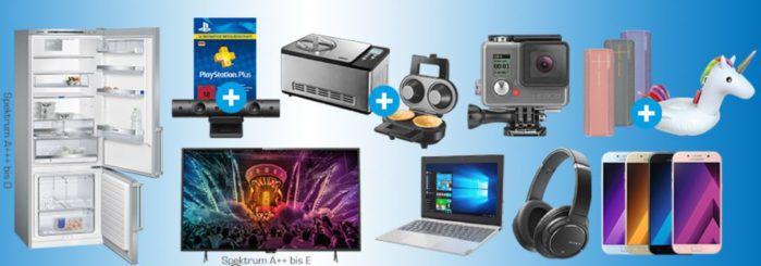 Saturn Late Night Shopping Übersicht   u.a.: Unold Eismaschine LIMITED EDITION + WAFFELAUTOMAT für 179€