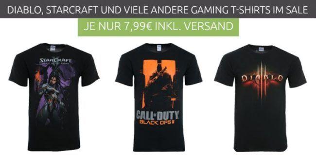 Diablo und andere Blizzard Gamer Herren Shirts für je nur 7,99€