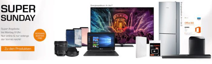 Saturn Super Sunday Deals: u.a. Asus UX360UAK C4221T Convertible statt 995€ für 799€