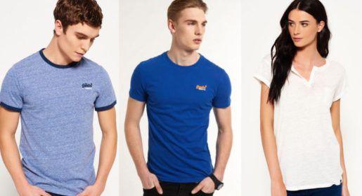 Superdry Damen und Herren T Shirts   54 Modelle für je 11,95€