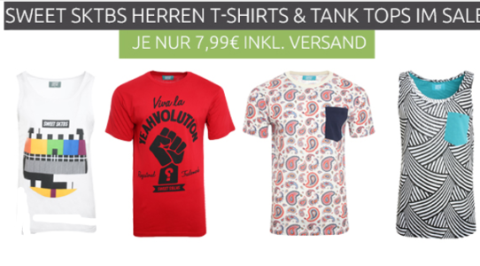 Sweet SKTBS   Herren Print und Logo T Shirts für je 7,99€