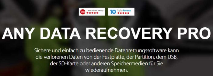 Tenorshare Any Data Recovery Pro (3 Computer Lifetime Lizenz) gratis