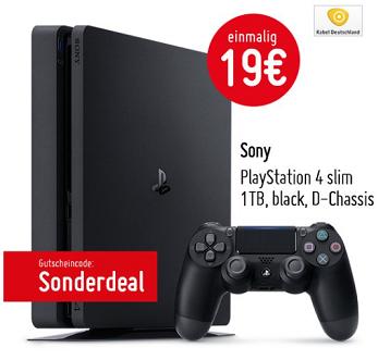 Vodafone DSL + Playstation 4 slim 1TB + Festnetzflat für 30,36€ mtl.