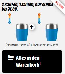 EMSA 514515 Travelcup Thermobecher im Doppelpack für 9€ (statt 16€)