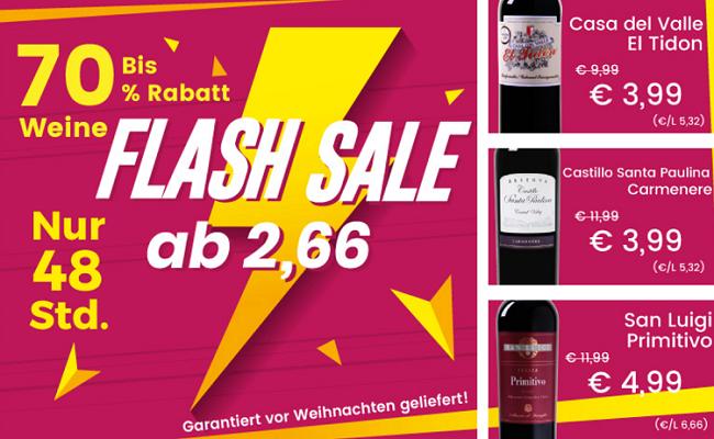 Weine ab 2,66€ pro Flasche im Weinvorteil Weekend Sale   6 Flaschen MBW!