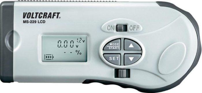 VOLTCRAFT MS 229 LCD Batterietester für 1,2   12 V Batterien/Akkus für 9,99€