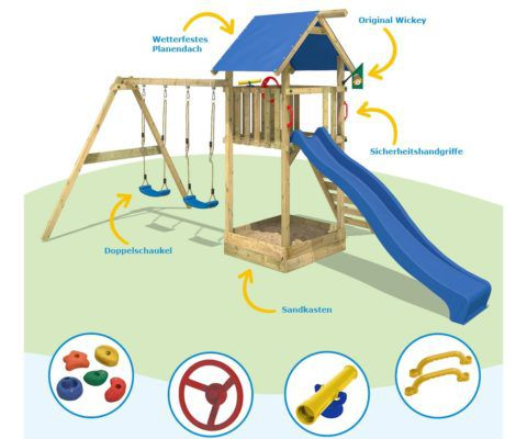 WICKEY Smart Empire Spielturm   Kinderparadies für 379,95€