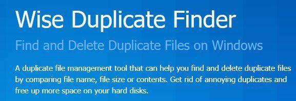 Wise Duplicate Finder Pro (PC, Lifetime Lizenz) gratis