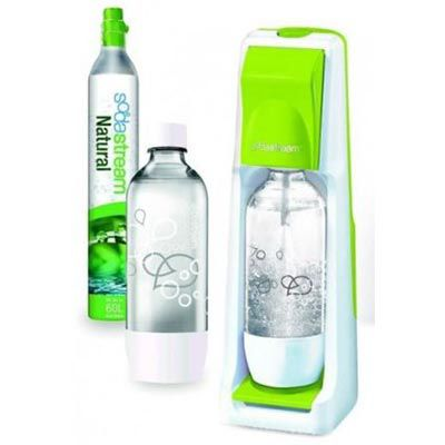 Sodastream Cool   grüner Wasserspender mit 2 Flaschen & CO2 Zylinder für 35€ (statt 70€)