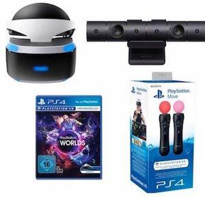 Playstation VR Brille + VR Worlds + PS4 Kamera + Move Twin Pack für 353,99,€ (statt 452€)