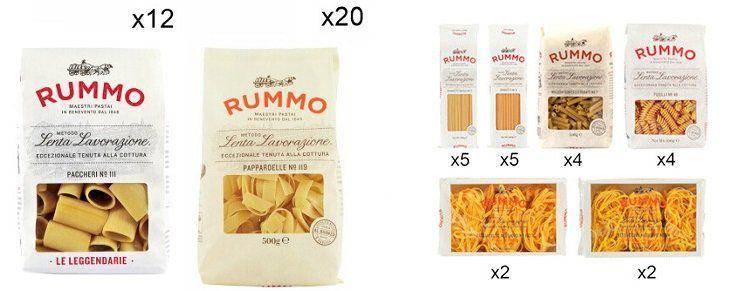 Rummo Sale mit Nudeln, Pastaboxen und Soße bei Vente Privee
