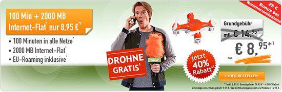 Verschiedene Telekom Tarife von klarmobil ab 3,95€mtl. + gratis Drohne