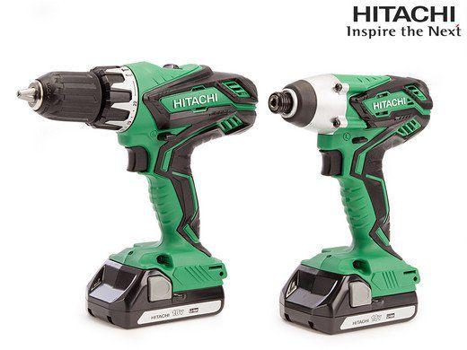 Hitachi Set   Bohr  und Schlagschrauber + 2 Akkus in Koffer für 168,90€ (statt 378€)