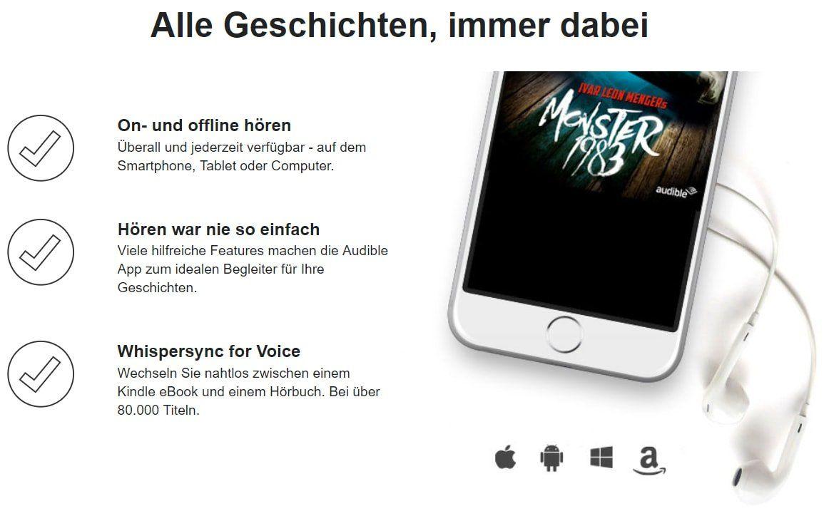 Screenshot Angebote Audible