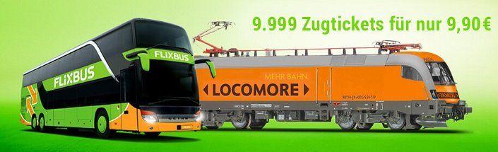 9.999 Locomore Zugtickets für je 9,90€ – u.a. Stuttgart – Berlin
