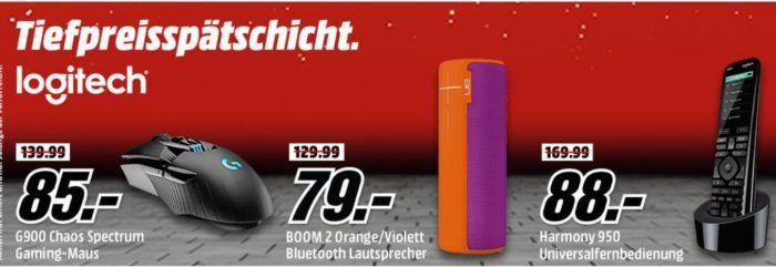 Media Markt Logitech Tiefpreisspätschicht   z. B. LOGITECH Harmony 950 Universalfernbedienung statt 139€ für 88, €