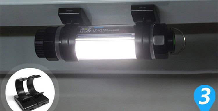 Uyc Q7M   Powerbank (2600mAh) inkl. LED Licht (IP68 wasserfest) für 13,04€