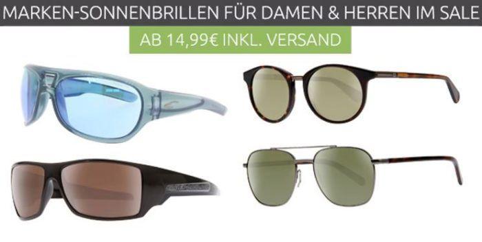 Harley Davidson, Polaroid und Carrera Sonnenbrillen ab 9,99€