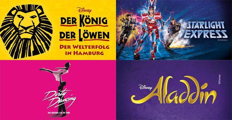 Musicalreisen mit ÜN & Frühstück ab 69€    z.B. Aladdin, König der Löwen, Tarzan uvm.