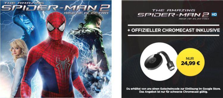 Google Chromecast 2 + HD Stream: The Amazing Spider Man 2 für 24,99€