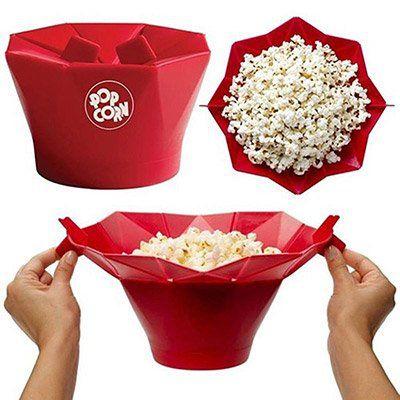 Popcorn Maker aus Silikon für die Mikrowelle in 2 Farben für je 5,81€