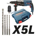 BOSCH Bohrhammer GBH 2-28 F im Koffer + X5L Bohrersatz ab 182,75€