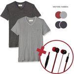Mick Morrison Herren Shirts im 2er-Pack bis 3XL inkl. Kopfhörer für je 14,95€