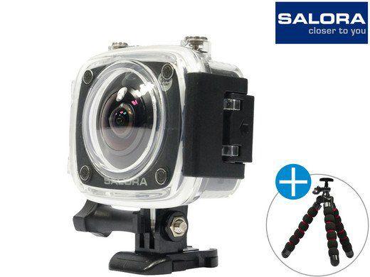 Salora 360° Pro Sport Action Camera + Tripod für 75,90€