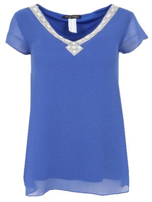 Ashley Brooke Damen Blusen Shirt  (3754) in Blau ab 7,99€   Restgrößen